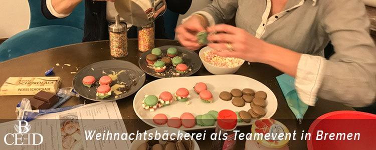 Teambuilding Bremen: Massnahmen zur Weihnachtsfeier und Teambuilding in Bremen - die mobile Weihnachtsbaeckerei von b-ceed: eventagentur
