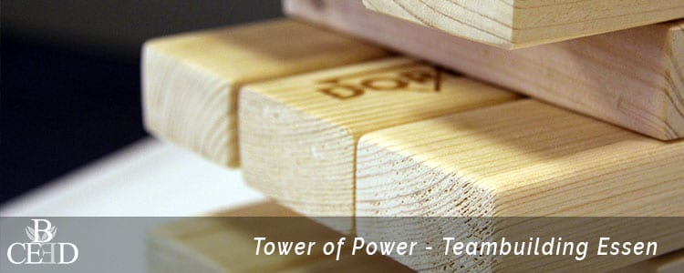 Teambuilding Essen: XXL Jenga Spiele beim Power of Tower mit b-ceed