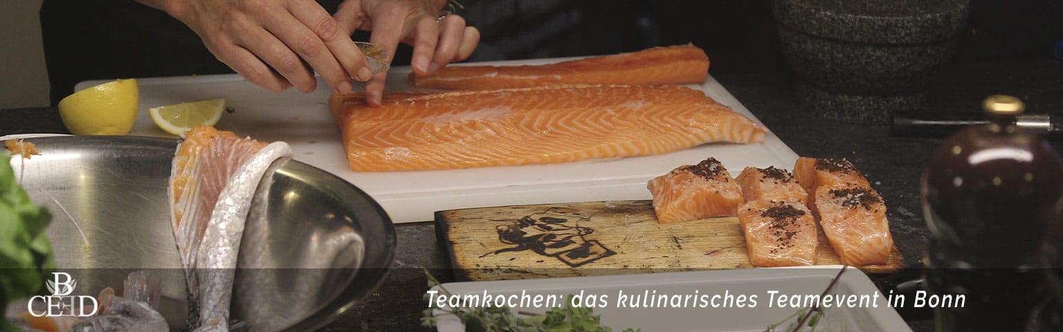 Ein Kochkurs als Teamevent Bonn mit b-ceed