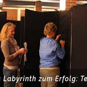 Labyrinth Bau als Teamevent in Bonn mit Eventagentur b-ceed
