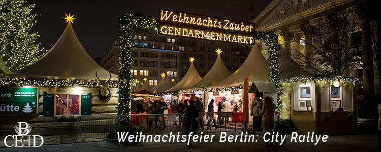 City Rallye durch Berlin zur Weihnachtsfeier mit b-ceed