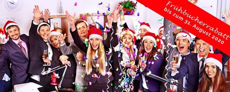 Frühbucherrabatt für die 30 besten Weihnachtsfeier Ideen 2020
