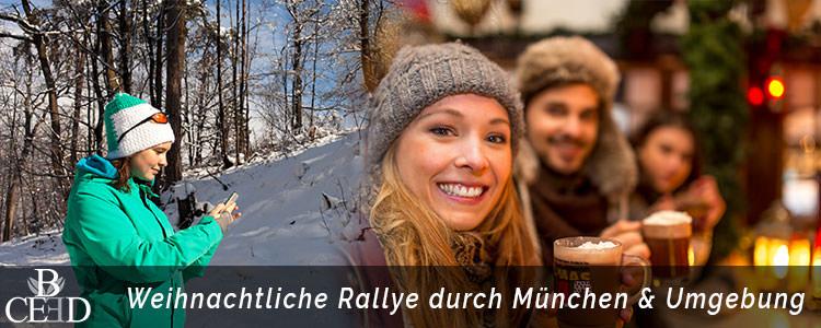 Weihnachtsfeier in München - Stadt Rallye und Teamevent im Winter mit b-ceed eventagentur