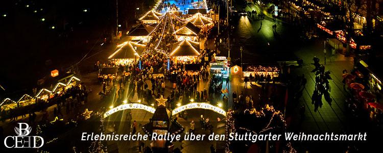 Weihnachtsmarkt Rallye durch Stuttgart zur Weihnachtsfeier mit b-ceed