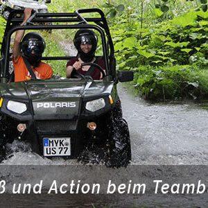Outdoor Ausflüge 2021 - Offroad Abenteuer mit Quads durch die Natur als Teambuilding in Aachen von der Eventagentur b-ceed