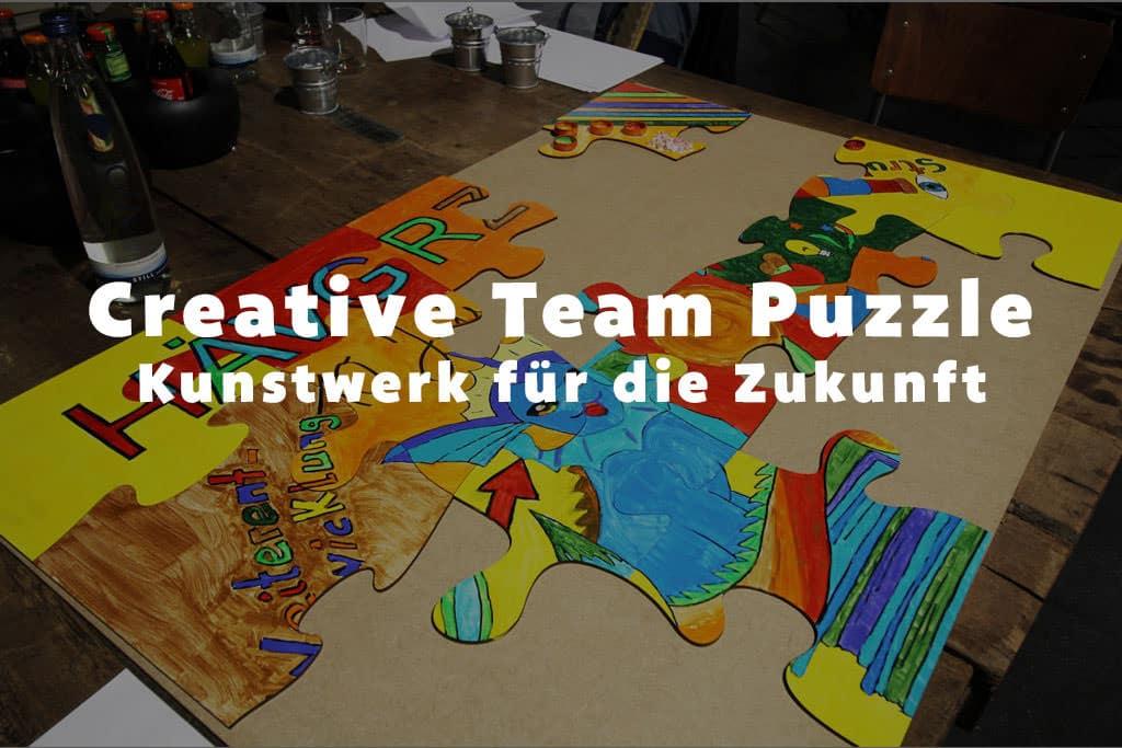 Teambuilding - Creative Team Puzzle ein Kunstwerk für die Zukunft schaffen b-ceed: events!