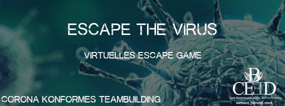 Virtuelles Teamevent und Kick Off Escape the Virus - corona konformes teambuilding von b-ceed: eventagentur