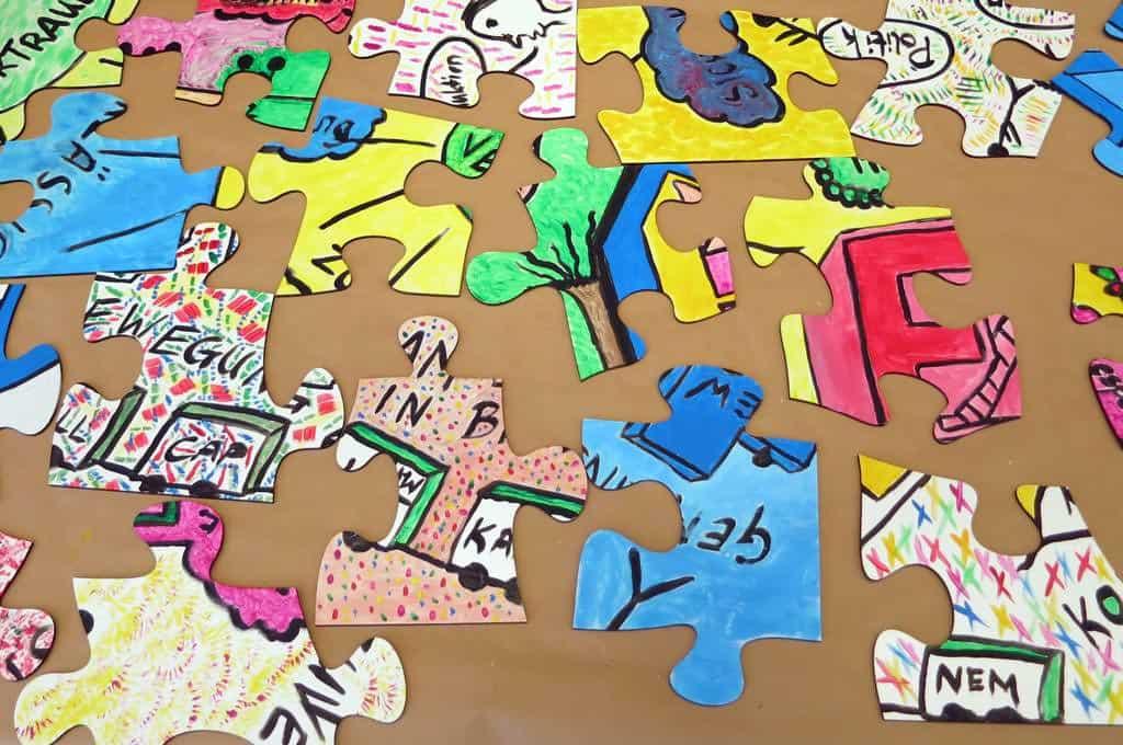 Coaching und Teambuilding in einem Event - Puzzle Team Painting von b-ceed.