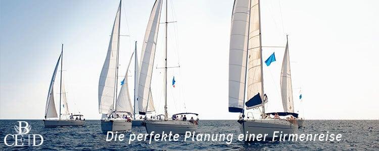 b-ceed hilft bei der perfekten Planung der Incentive Reise. Ein Segeltörn mit b-ceed als Firmenreise gemeinsam planen.