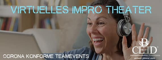 Virtuelles Improvisationstheater - remote Team Events von b-ceed: corona konform 2020