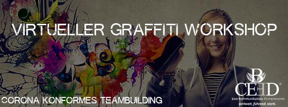 Virtuelles Teamevent: Remote Graffiti Workshop von b-ceed: teambuilding eventagentur