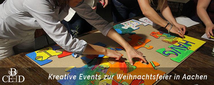 Weihnachtsfeier Aachen: kreative Teamevent mit Puzzle – b-ceed: eventagentur