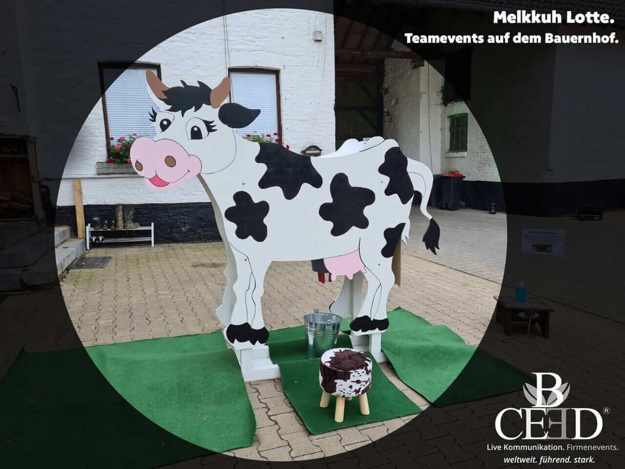 Bauernhof Teamevents mit b-ceed und Melkkuh Lotte