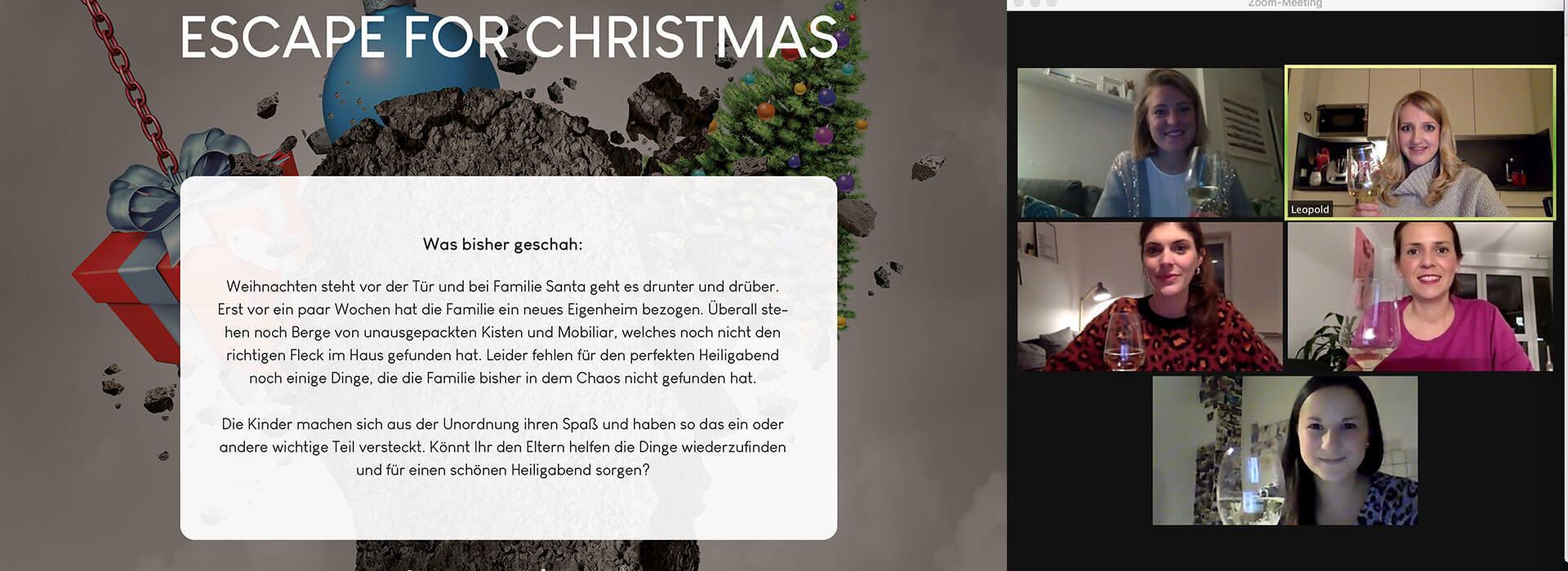 Virtuelle Weihnachtsfeier Online Christmas Escape