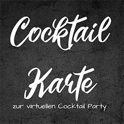 Cocktailkarte zum virtuellen Cocktailkurs von b-ceed: events!