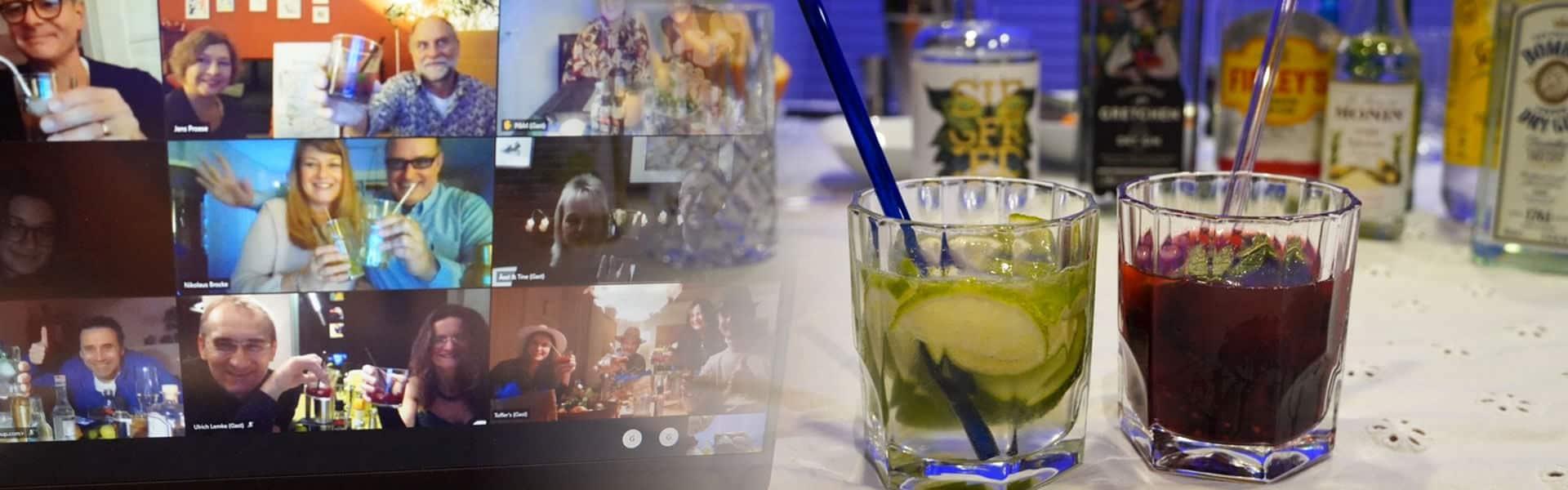 Virtueller Cocktailkurs mit DJ Party - Remote Teamevent von b-ceed