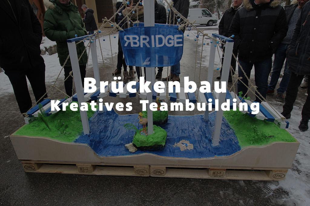 Der Brückenbau als kreatives Teambuilding für die Firma mit b-ceed: events!