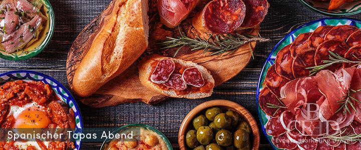 Online Feinkost Event mit spanischen Tapas und Wein von b-ceed