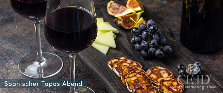 Spanisches Tasting mit Wein, Olivenöl und Aperitif. Virtuelles Tasting Event von b-ceed