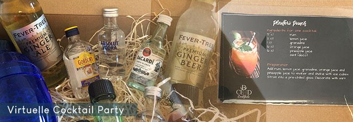 Cocktailboxen, Gin Boxen zum versenden nach Hause oder ins Home Office - Virtuelle Tasting Events von b-ceed