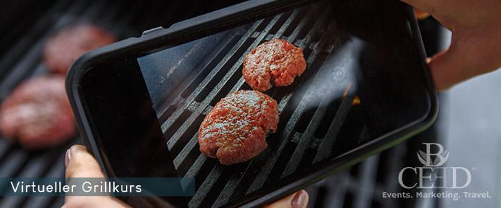 Virtueller Grillkurs mit Burger oder 3-Gang Menü von b-ceed