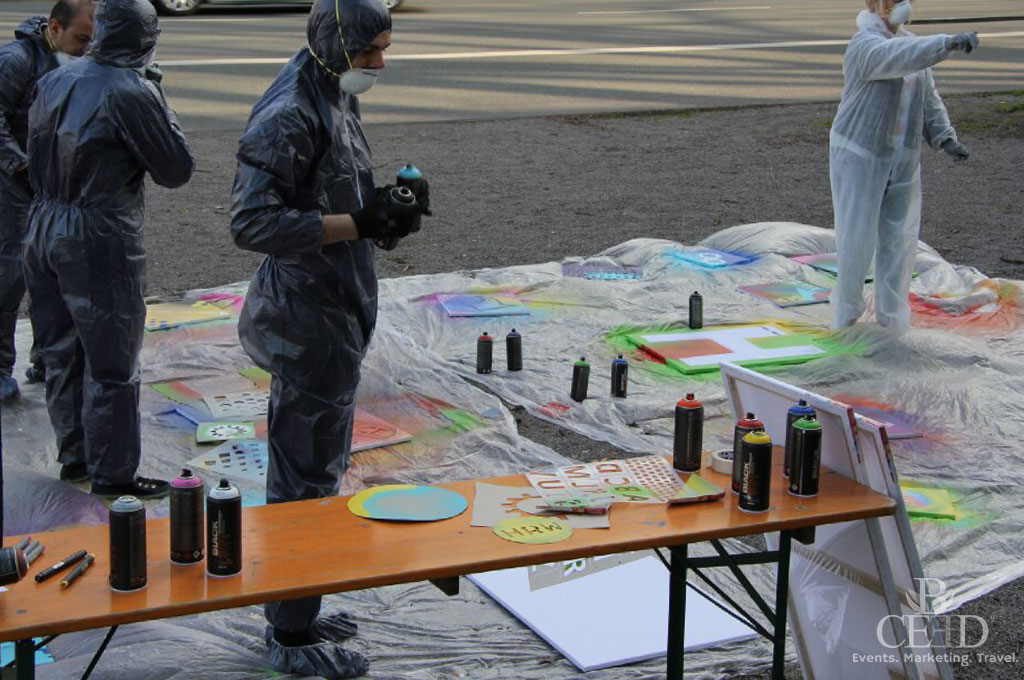 Graffiti Workshop von b-ceed schweisst Teams zusammen