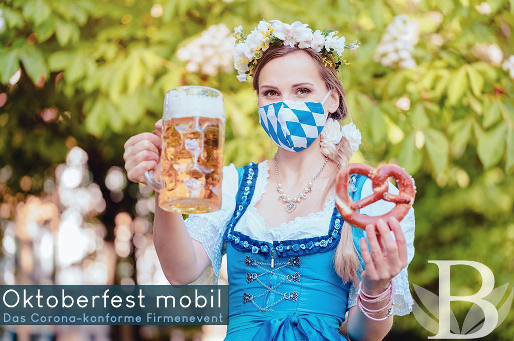 Corona konformes Firmenevent: Mobiles Oktoberfest auf dem FIrmengelände - 2021 sicher und mit Abstand feiern