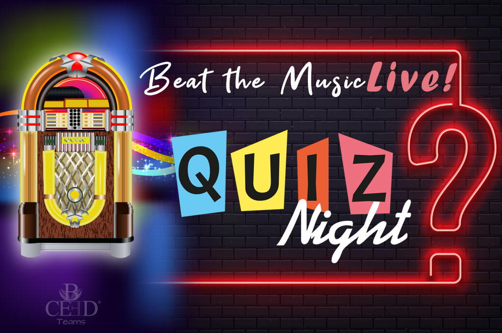 Online Teambuilding-Event: Beat the Music Quiz Live - Musik Quizshow Virtuell   b-ceed Teamevents