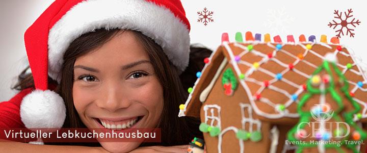 Online Lebkuchenhaus bauen - Teamevent virtuell zur Weihnachtsfeier - bceed