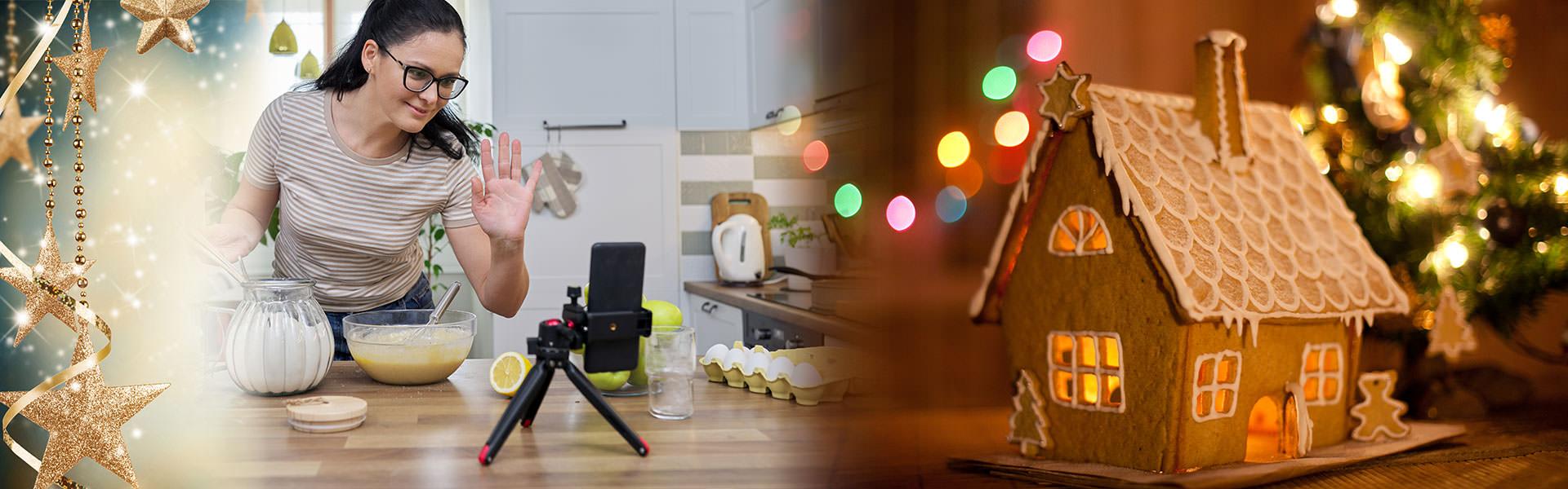 Online Back Kurs - Weihnachtsfeier virtuell mit der Weihnachtsbaeckerei von b-ceed