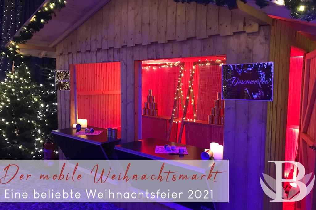 Beliebte Weihnachtsfeier mit Abstand 2021 - der mobile Weihnachtsmarkt - bceed eventagentur