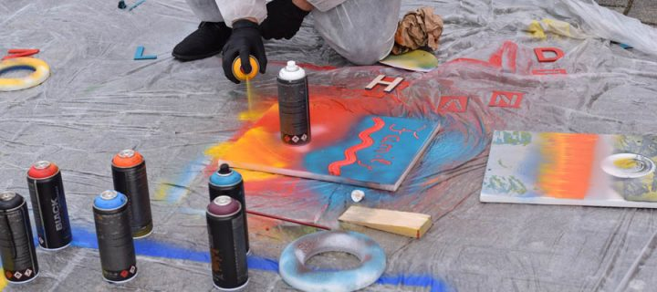 Kreatives Graffiti Teambuilding Workshop mit b-ceed