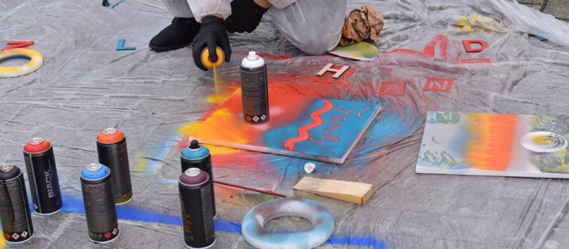 Kreatives Graffiti Teambuilding Workshop mit b-ceed
