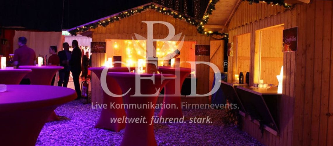 Mobiler Firmenweihnachtsmarkt auf dem eigenen Firmengelände mit b-ceed: events!